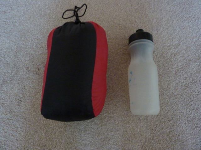 Packed size compared to 750ml Travel Tap bottle