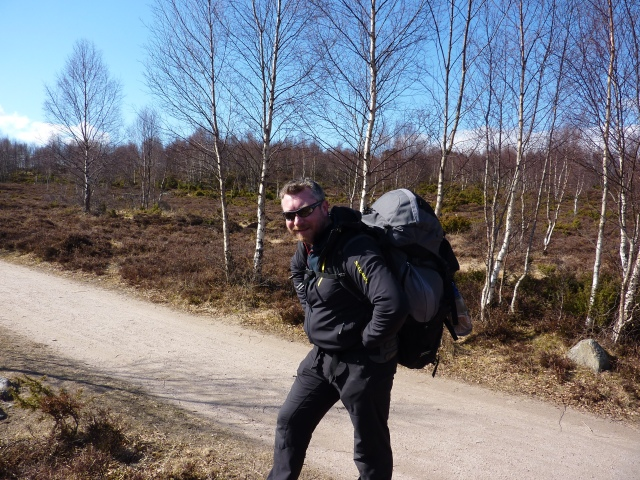 Terry & his pack - filming equipment is never light !