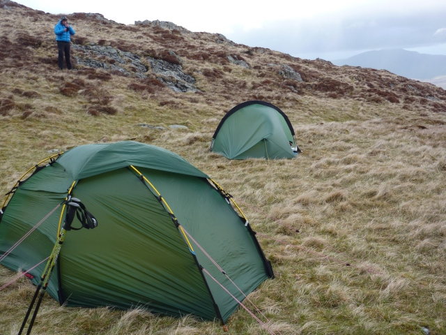 Camp near Dale head Tarn