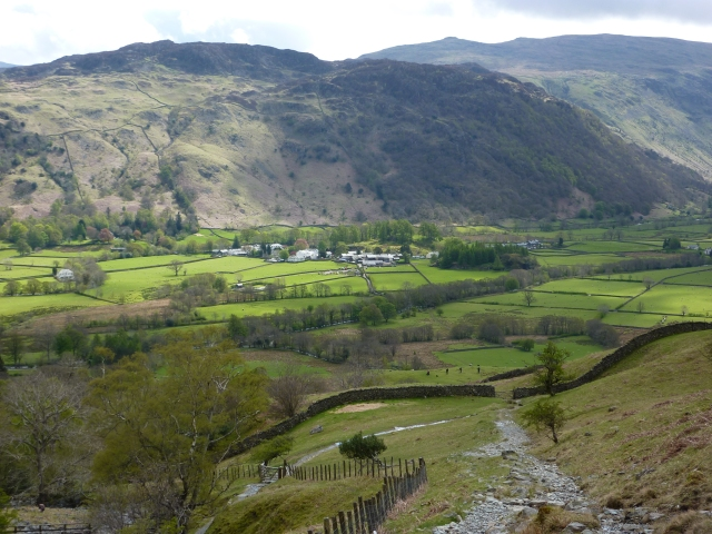 Looking down at Borrowdale