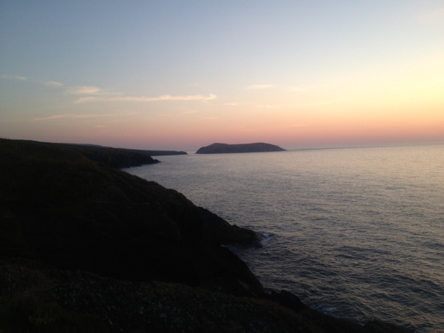 Looking towards Cardigan Island