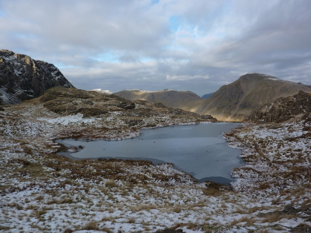 Frozen tarn near Piers Gill