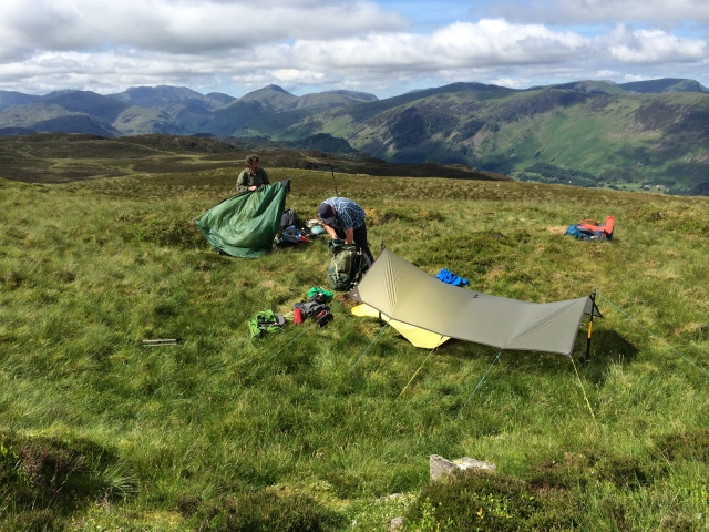 A late pack up on Bleaberry Fell ( Terry & Chris)