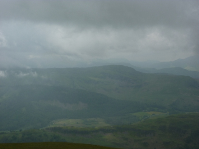 Looking over to Bleaberry Fell. My next day's camp
