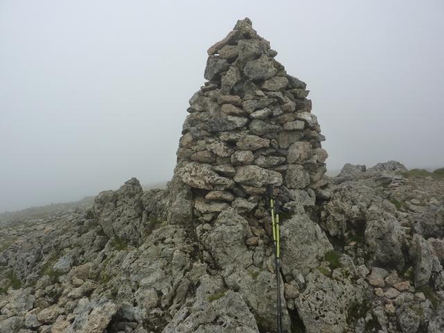 Summit cairn on Raise