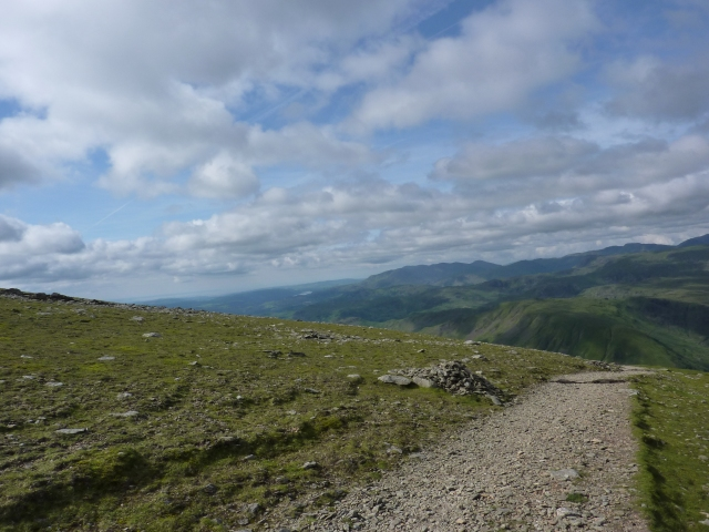 Walking down from Helvellyn