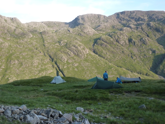 Wild camp at Great Gable opposite the Scafells