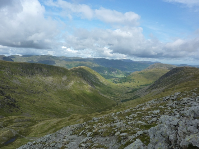 Looking down from Thornthwaite Crag