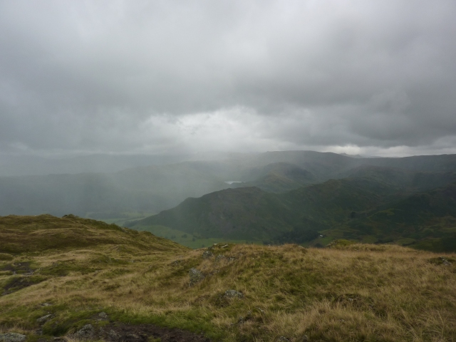 Grasmere is somewhere down in that cloud