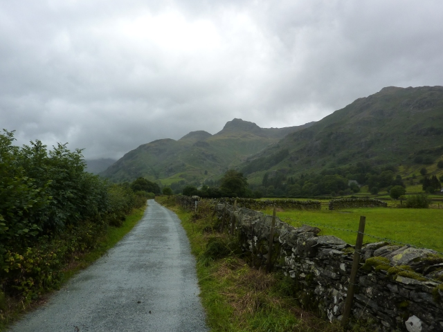 Heading to Great Langdale along the Cumbria Way