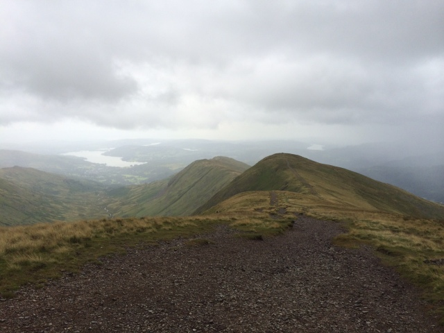 Walking from Fairfield to Great  Rigg