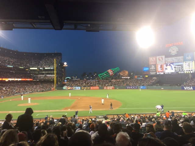 At the ball game - Giants versus San Diego Padres
