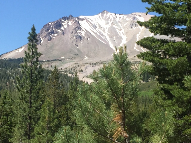 Close up Mt Lassen