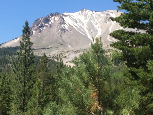 Close up Mt Lassen