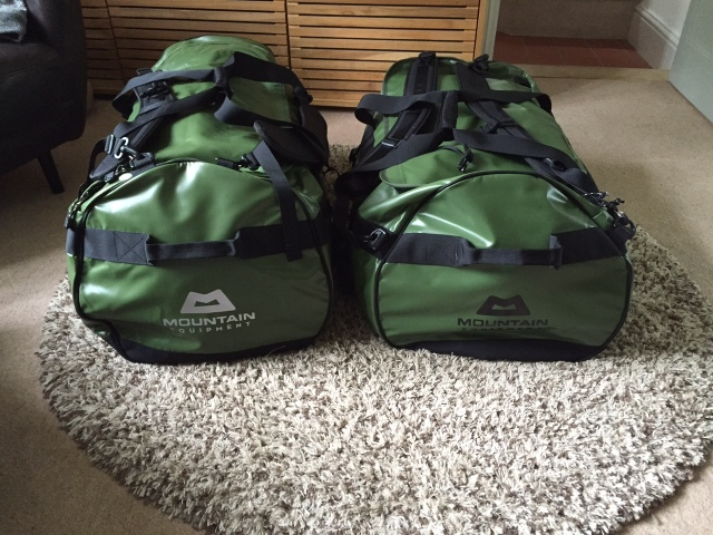All camping equipment for 4  in 2 duffels
