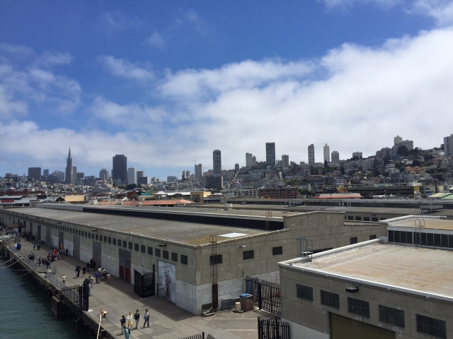 San Francisco skyline from the docks