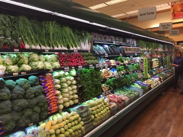 An impressive display of  vegetables!