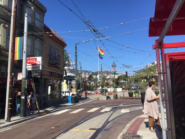 Tram stop in Castro
